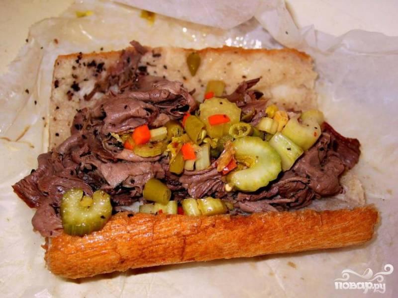 Итальянский бутерброд с говядиной