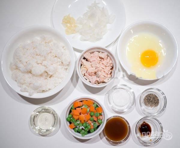1. Подготовьте все ингредиенты для дальнейшей готовки.
