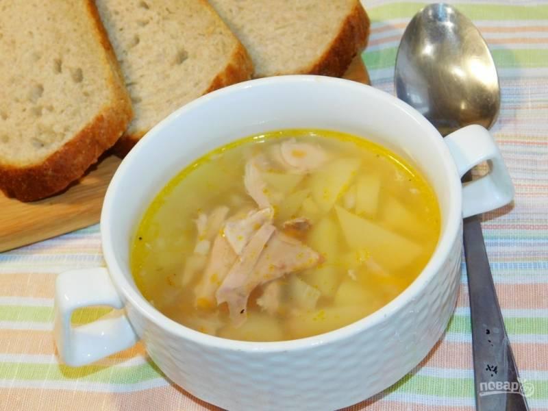 Суп из кролика с чечевицей