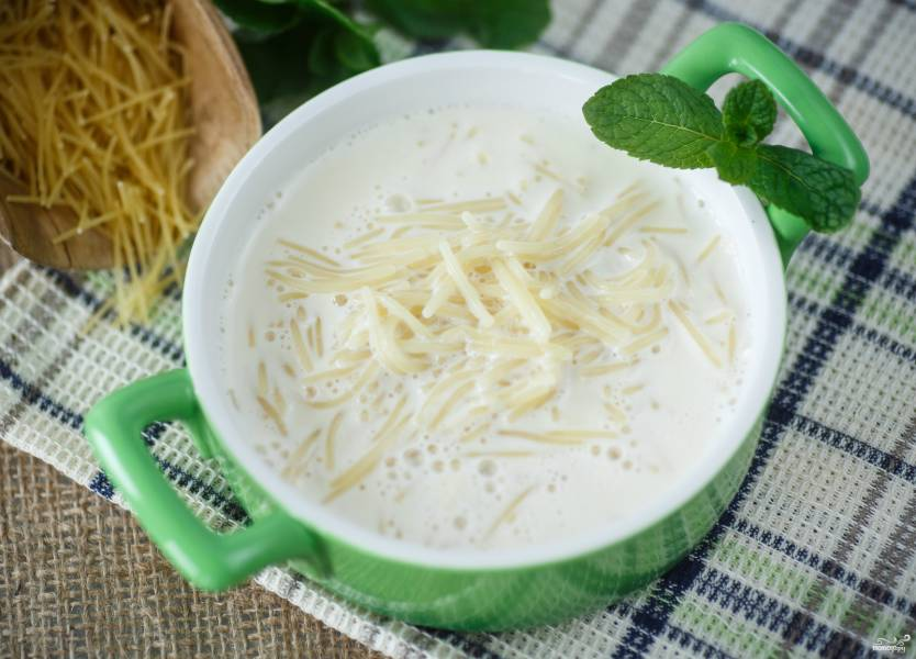 Молочный суп с вермишелью для детей