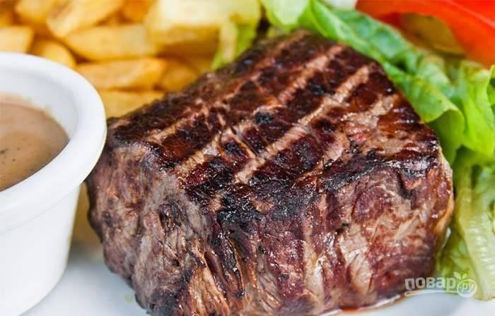 Мясо на электрогриле