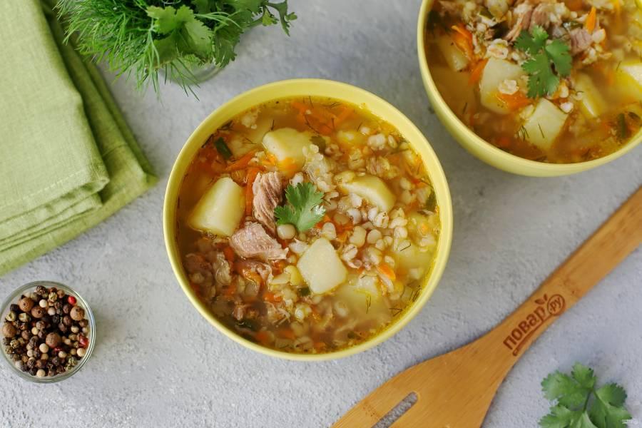 Гороховый суп с перловкой