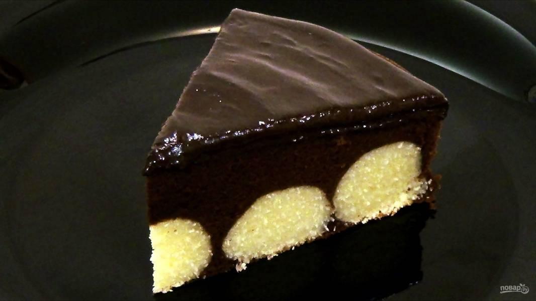 Вкуснейший шоколадный пирог с творожными шариками