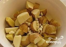 Добавить к картофелю.