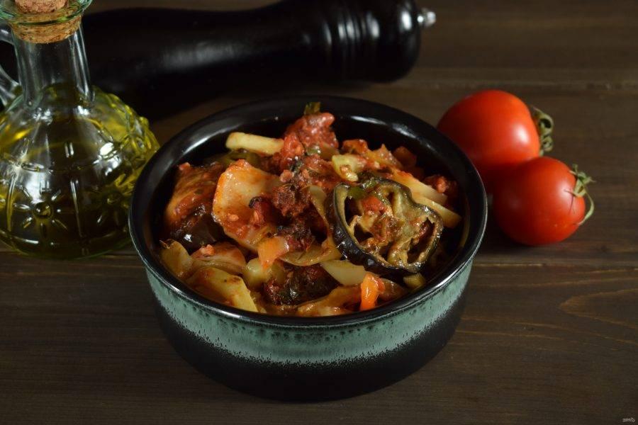 Запекайте овощи 40 минут при 190°. Приятного аппетита!