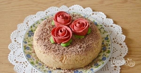 Формируем тортик любой формы и украшаем по вкусу. Приятного аппетита!