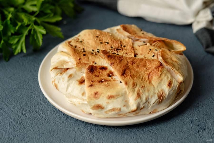 Пирог из лаваша с кабачками