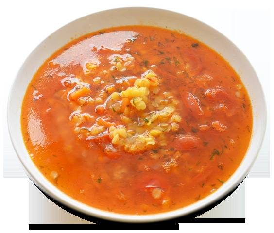 7. Дайте настояться супу около пятнадцати минут и можете разливать по порциям. Сверху можно украсить суп зеленью петрушки и притрусить черным молотым перцем.