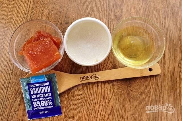 """Подготовьте продукты для крема """"мокрое"""" безе и начинки."""