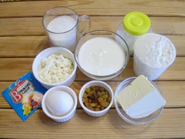1. Приготовим продукты. Ванильный сахар можно заменить любой фруктовой и ванильной эссенцией.