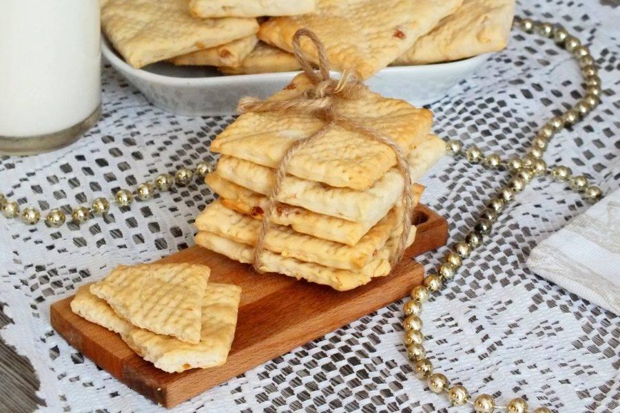 Печенье можно подавать слегка теплым или полностью охлажденным. Приятного аппетита!