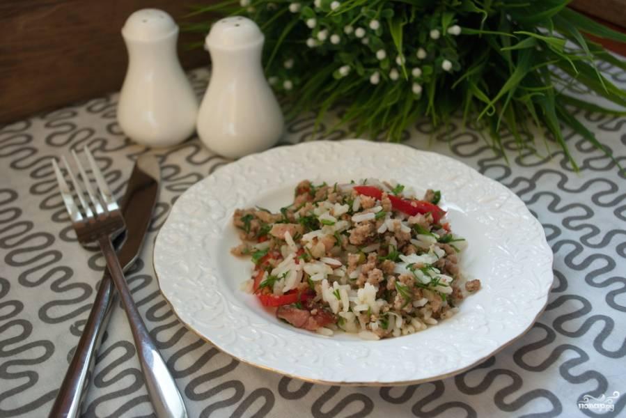 Салат с фаршем мясным