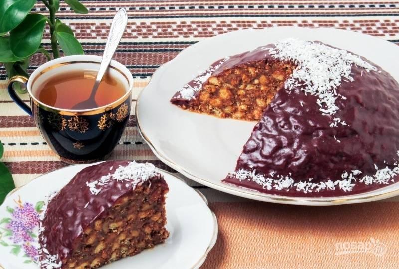 Торт из печенья и вареной сгущенки