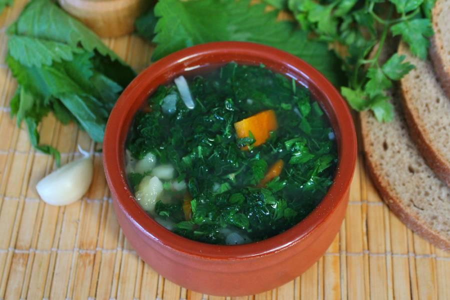 Постный суп из крапивы