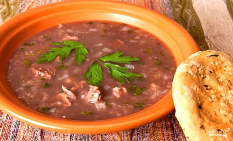 4. Варится суп на медленном огне приблизительно около часа. Вот такая получается красота!