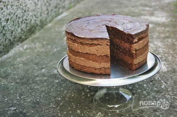 """Торт """"Прага"""" с заварным кремом"""
