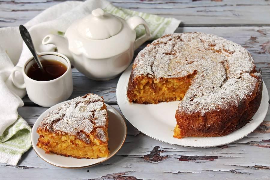 Овсяно-морковный пирог