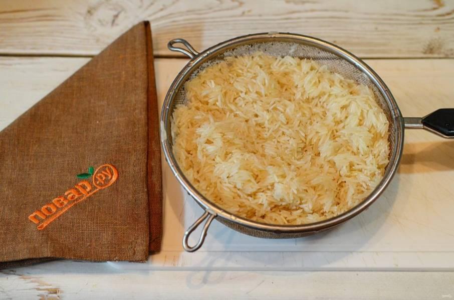 2. Рис хорошо промойте.