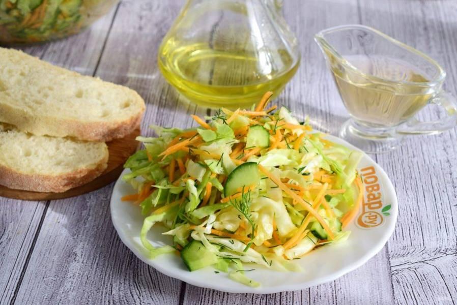 8 рецептов простых салатов с подсолнечным маслом