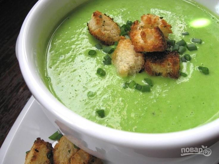 Суп со свежим горохом
