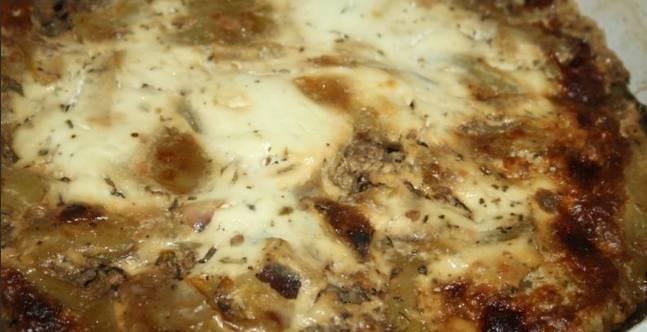 4. Или же прямо в сковороде помещаем блюдо в духовку, - тогда получится такая вот аппетитная корочка!
