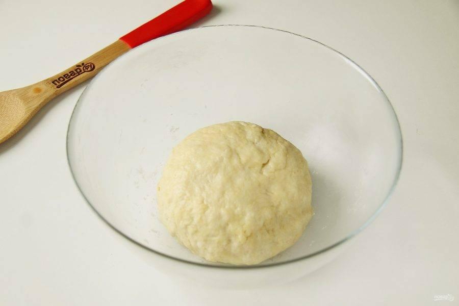 Замесите мягкое и пластичное тесто. В процессе если необходимо, добавьте еще немного муки. Соберите тесто в шар, заверните в пищевую пленку и уберите в холодильник на 20-30 минут.