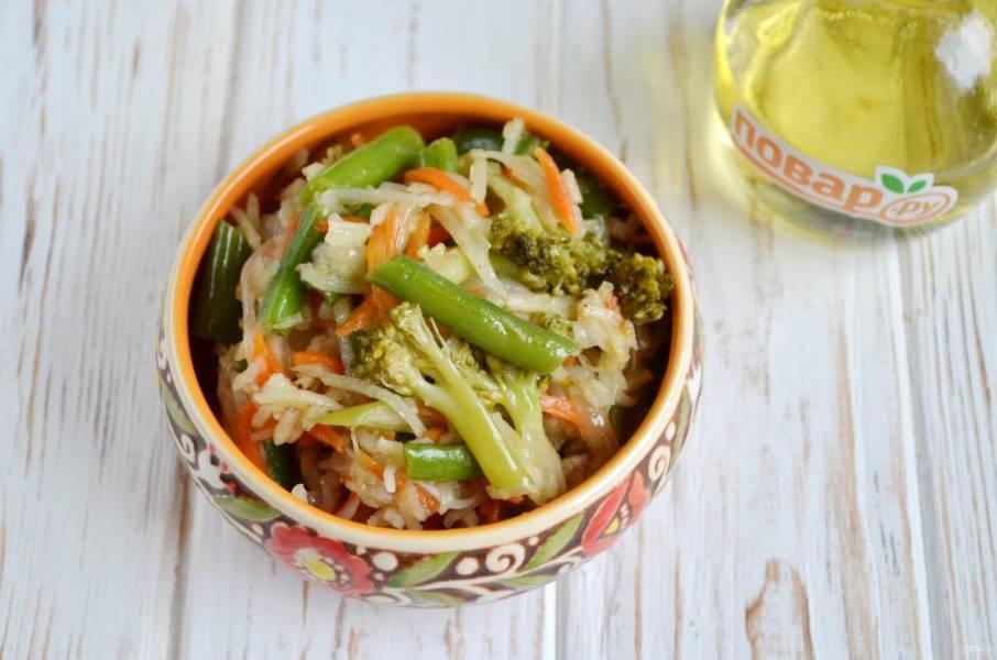 6. Готовые овощи подавайте в горячем виде.