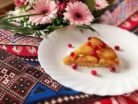 Французский яблочный тарт-перевертыш