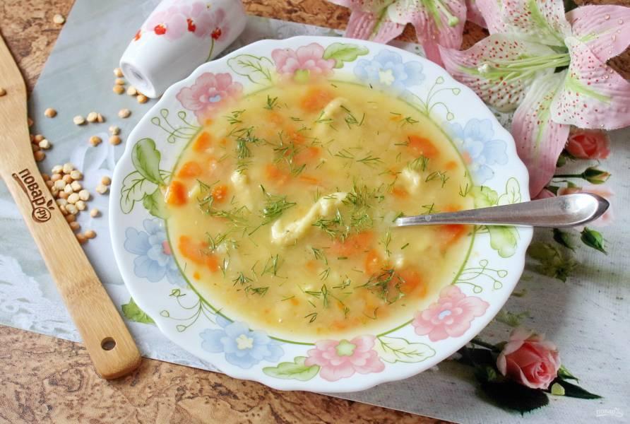 Гороховый суп с клецками