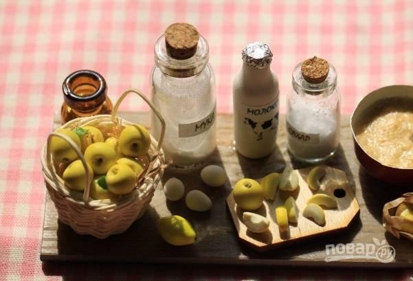 1. Подготовим компоненты: яблоки моем и обсушиваем, масло и яйцо подержим при комнатной температуре.