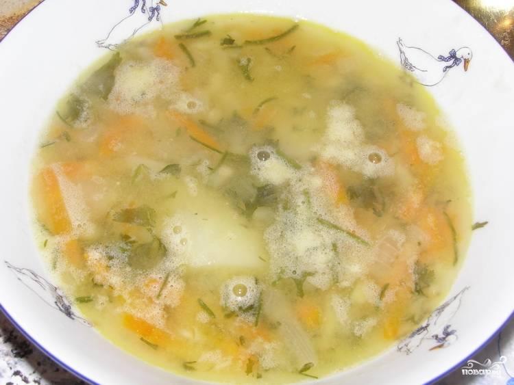 Гороховый суп с сельдереем