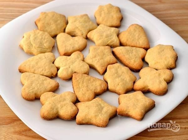 Запекайте печенье в течение 15 минут. Подавайте выпечку остывшей. Приятного чаепития!