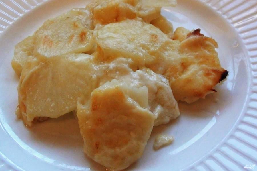 Картофель тушеный в духовке