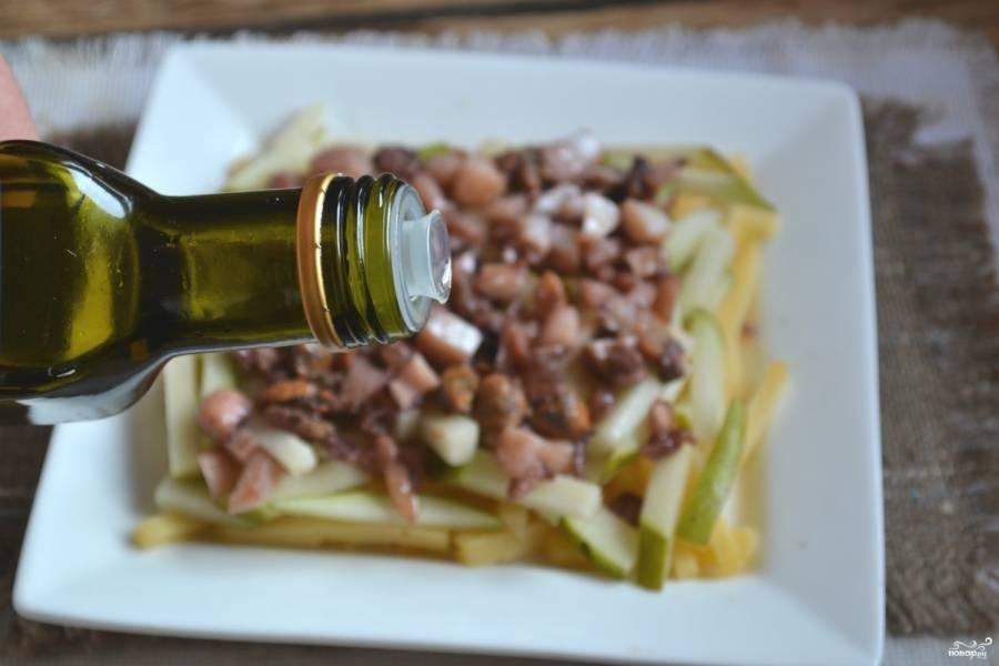 Сбрызните все это оливковым маслом.