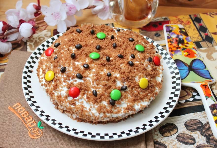 Торт в микроволновке за 15 минут