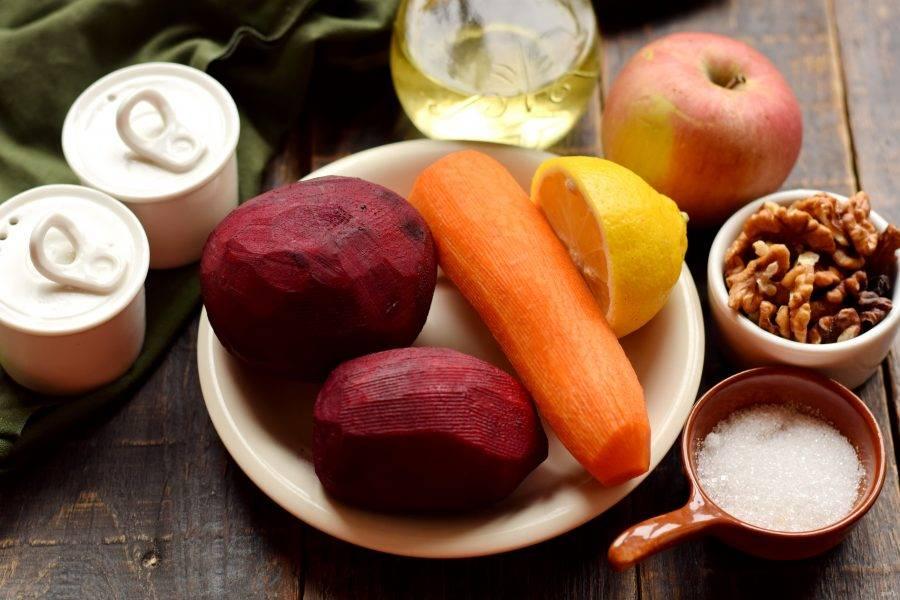 Подготовьте все компоненты для приготовления блюда. Овощи очистите, тщательно вымойте.