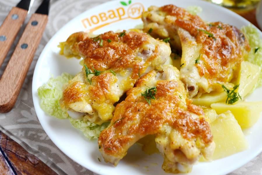 Куриные крылышки с сыром