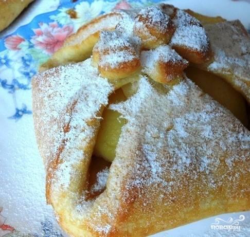 Творожное тесто с яблоками