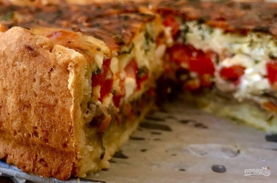 Пирог с грибами (нереально вкусный)