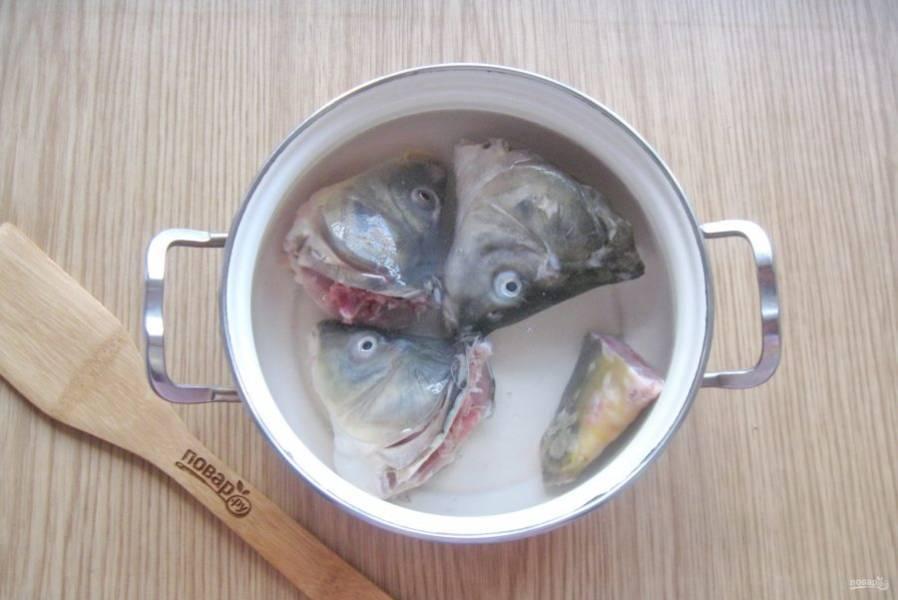 Залейте свежей водой.