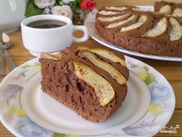 Открытый пирог с грушами