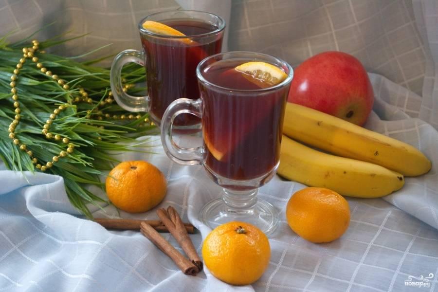 Глинтвейн с имбирем готов. Пробуйте. Я думаю, такой напиток вам очень понравится и согреет зимним вечерком.