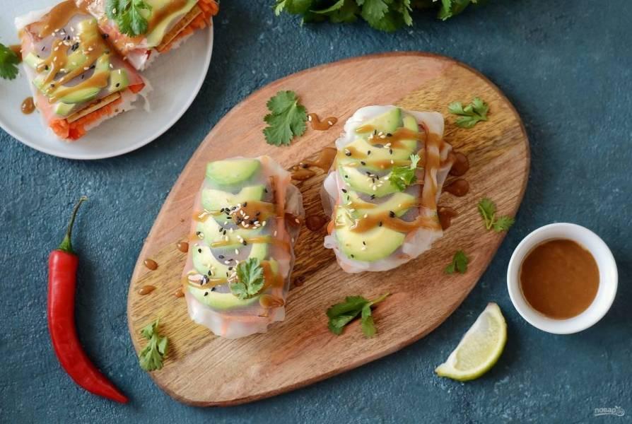 Спринг-роллы с тофу готовы, приятного вам аппетита!