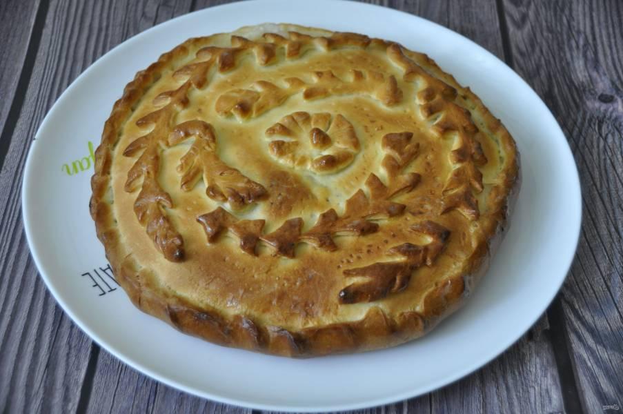 Пирог с корюшкой
