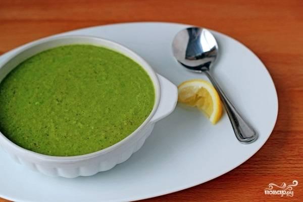 Крем-суп из брокколи без сливок