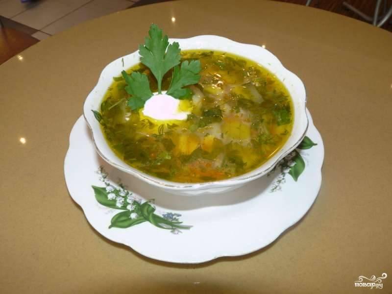 Суп с гречкой и солеными огурцами