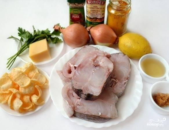 1. Перед вами весь набор ингредиентов, которые потребуются, чтобы повторить этот простой рецепт стейка из трески.