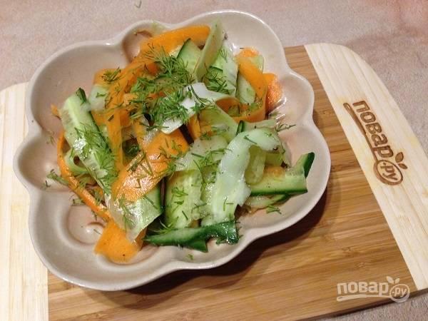 8. Перемешиваем — и можно посыпать мелко нарезанной свежей зеленью. Приятного аппетита!