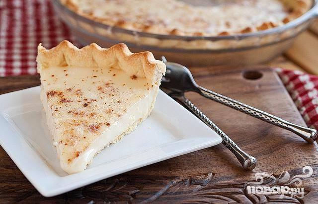 Пирог со сливочным кремом