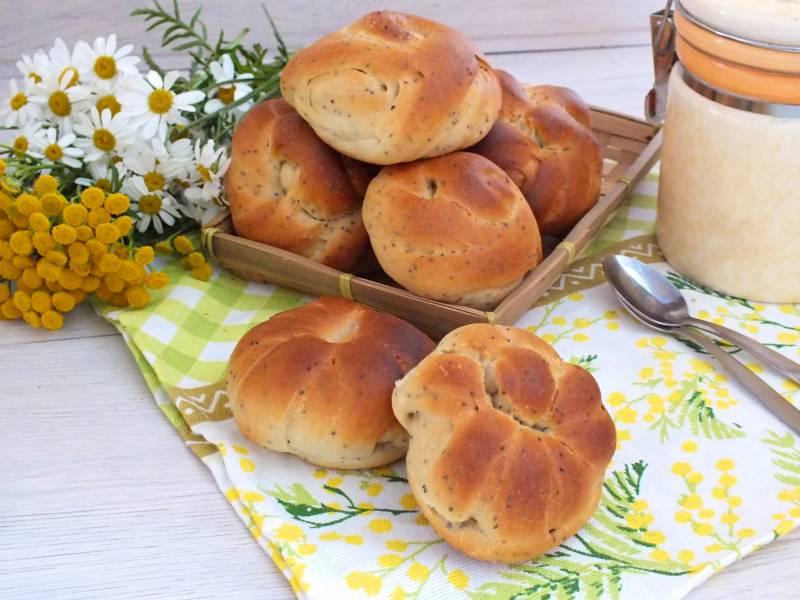 Дрожжевые булочки без яиц и молока